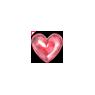 Pink Transparent Valentine Balloon Heart