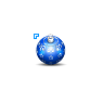 Christmas Tree Ornament Blue Ball