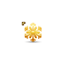 Pretty Yellow Snowflake