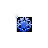 Dark Blue Snowflake