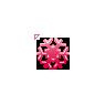 Dark Pink Snowflake