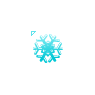 Baby Blue Snowflake
