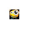 Drooling Big Eye Smiley